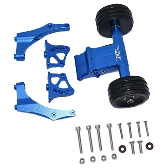 GPM Aluminum Rear Wheelie w/ Wing Mount Blue : 1/5 Kraton / Outcast 8S BLX