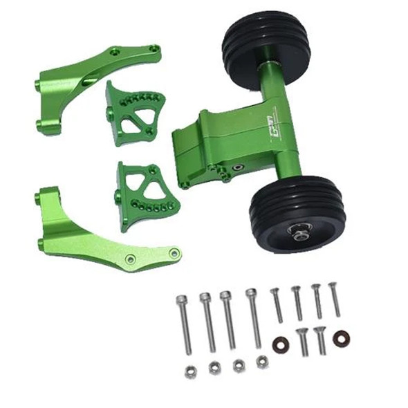 GPM Aluminum Rear Wheelie w/ Wing Mount Green : 1/5 Kraton / Outcast 8S BLX