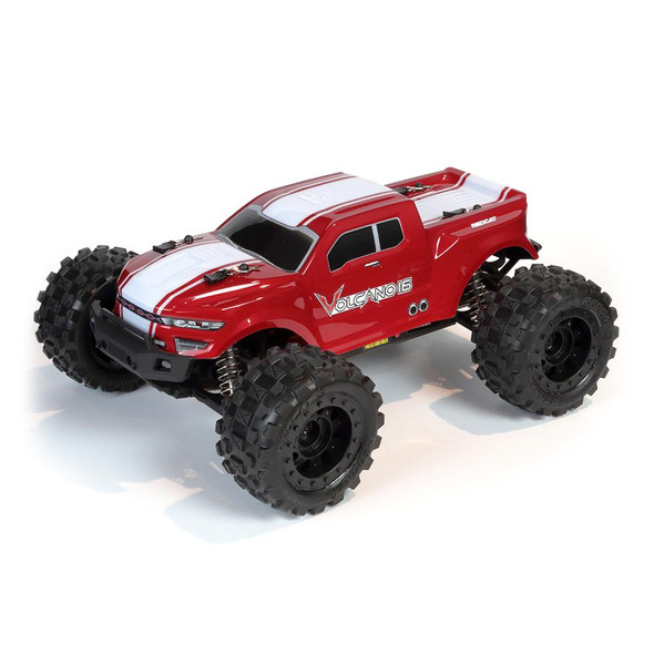 Redcat RER13648 1/16 Volcano-16 Brushed Monster Truck RTR Red w/Battery/Charger