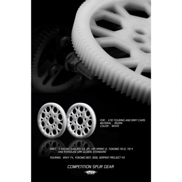 Yeah Racing SG-64107 Competition Delrin Spur Gear 64P 107T :1/10 On Road Touring Drift