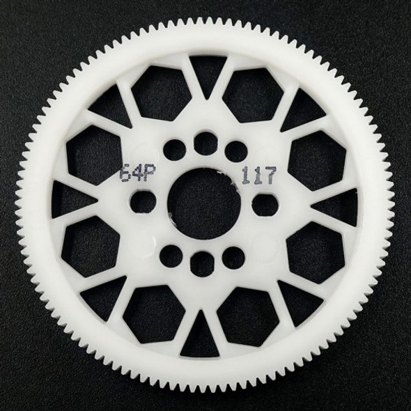Yeah Racing SG-64117 Competition Delrin Spur Gear 64P 117T :1/10 On Road Touring Drift