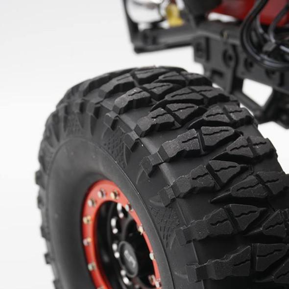Yeah Racing WL-0138RD 1.9 Alum CNC F-RG Beadlock Wheels (4) Red : 1/10 Crawler