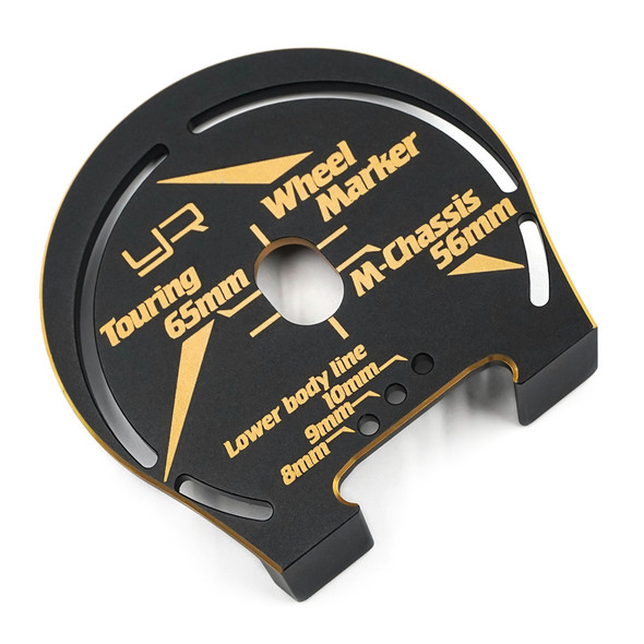 Yeah Racing YT-0203BK/GD Aluminum Wheel Marker Black Gold : 1:10 Touring M-Chassis