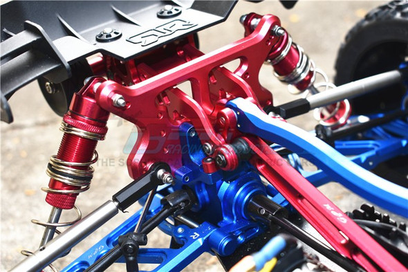 GPM Aluminum Rear Adjustable Wheelie Blue : Arrma TALION / TYPHON