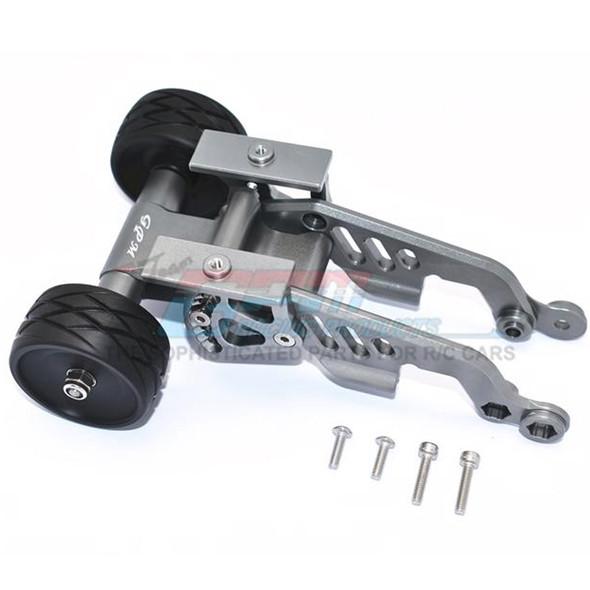 GPM Aluminum Rear Adjustable Wheelie Grey : Arrma TALION / TYPHON