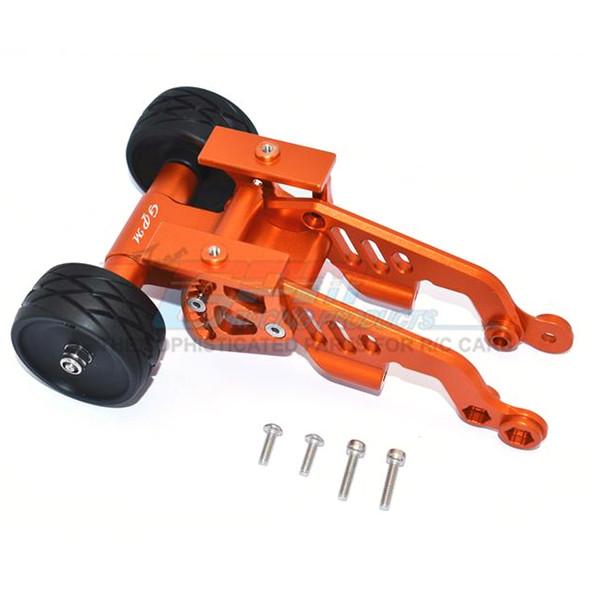 GPM Aluminum Rear Adjustable Wheelie Orange : Arrma TALION / TYPHON