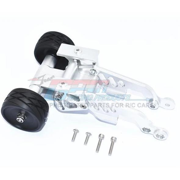 GPM Aluminum Rear Adjustable Wheelie Silver : Arrma TALION / TYPHON