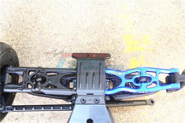 GPM Aluminum Front / Rear Lower Suspension Arms Blue : Arrma Fazon Voltage