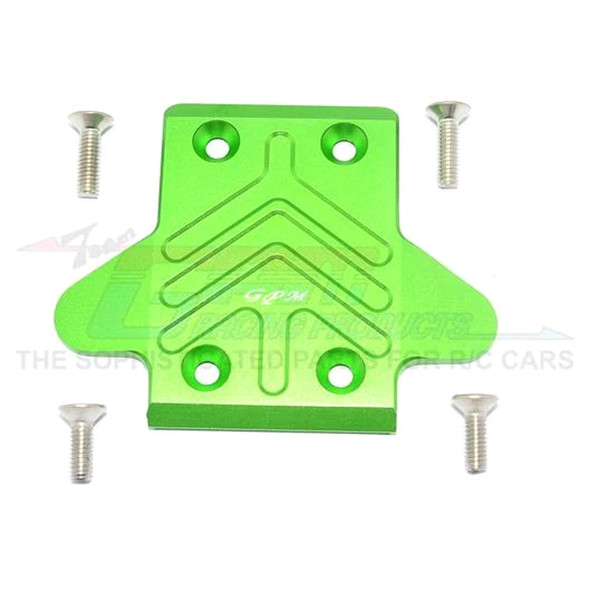 GPM Alum Front Chassis Protection Plate Green : Senton/Outcast/Notorious 6S BLX