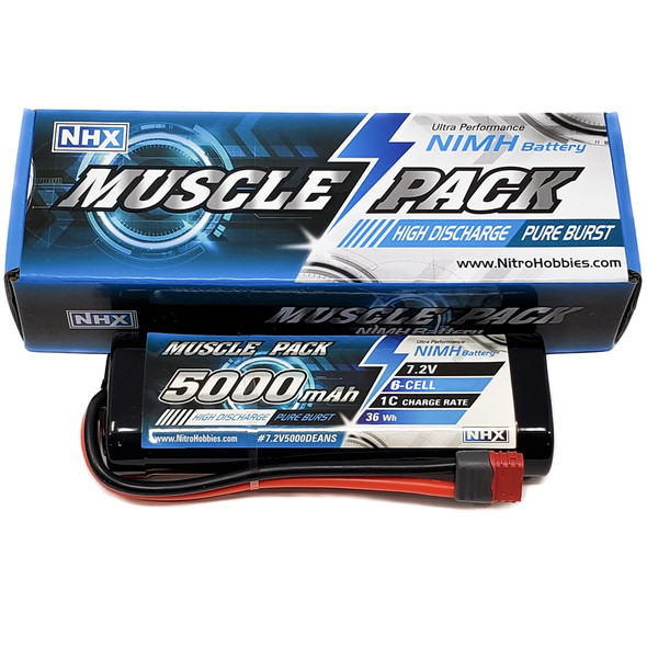 NHX Muscle Pack 7.2V 5000mAh 6-Cell Nimh Battery w/ DEANS Connector