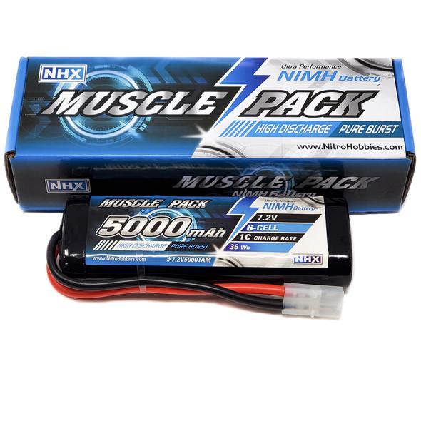 NHX Muscle Pack 7.2V 5000mAh 6-Cell Nimh Battery w/ Tamiya Connector