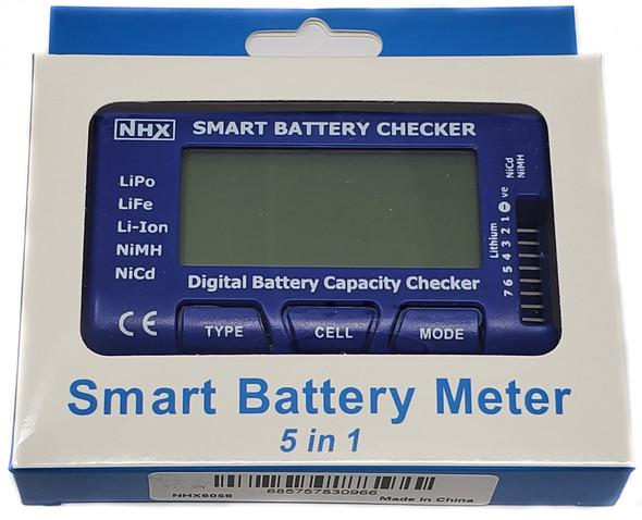 NHX 5-in-1 Intelligent Cell Meter Battery Capacity Checker Servo PPM Tester