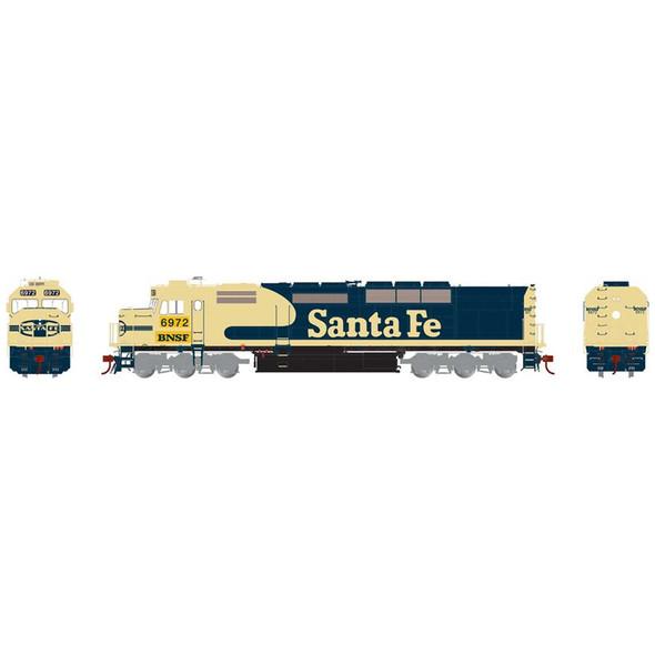 Athearrn ATHG63997 Santa Fe SDP40F w/DCC & Sound #6972 Locomotive HO Scale