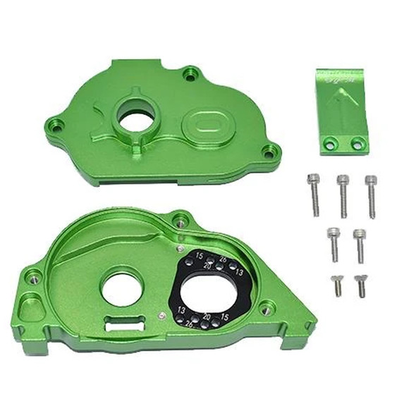 GPM Alum Rear Gear Protection Motor Mount Green : KRATON 4S BLX / SENTON 3S BLX