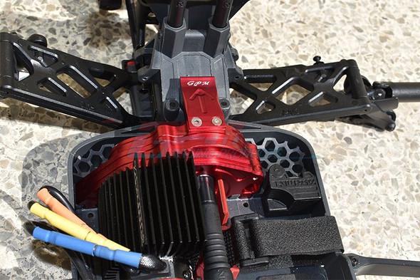 GPM Alum Rear Gear Protection Motor Mount Grey : KRATON 4S BLX / SENTON 3S BLX