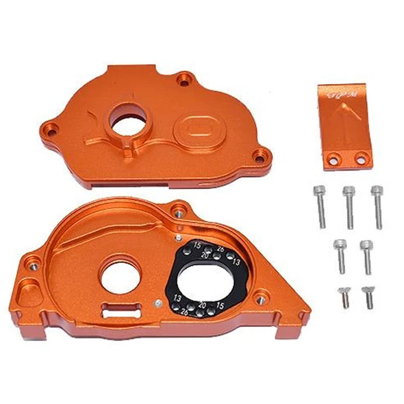 GPM Alum Rear Gear Protection Motor Mount Orange : KRATON 4S BLX / SENTON 3S BLX