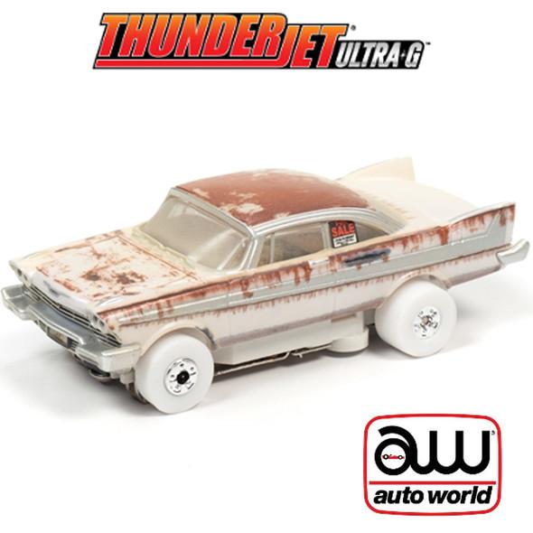 Auto World Thunderjet 1958 Plymouth Fury Christine For Sale/Dirty iWheels HO Slot Car