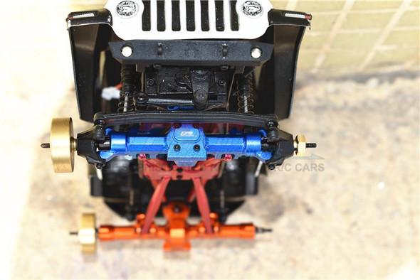 GPM Aluminum Front Gear Box Blue : Axial 1/24 SCX24 Deadbolt / Jeep Wrangler