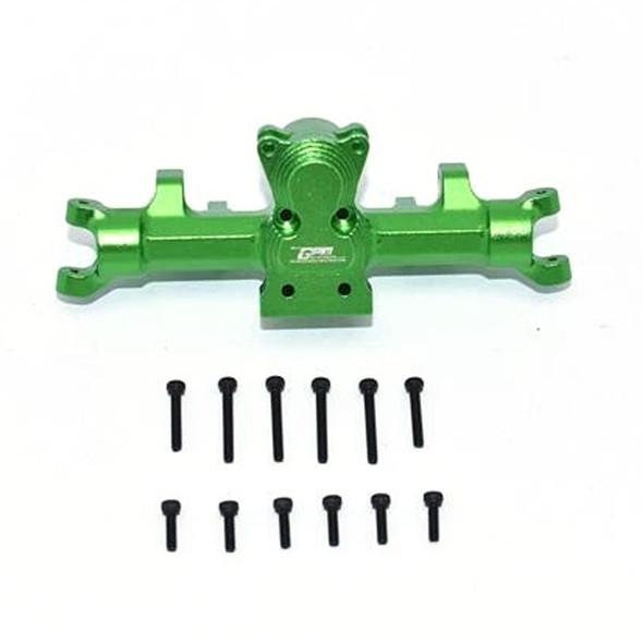 GPM Aluminum Front Gear Box Green : Axial 1/24 SCX24 Deadbolt / Jeep Wrangler