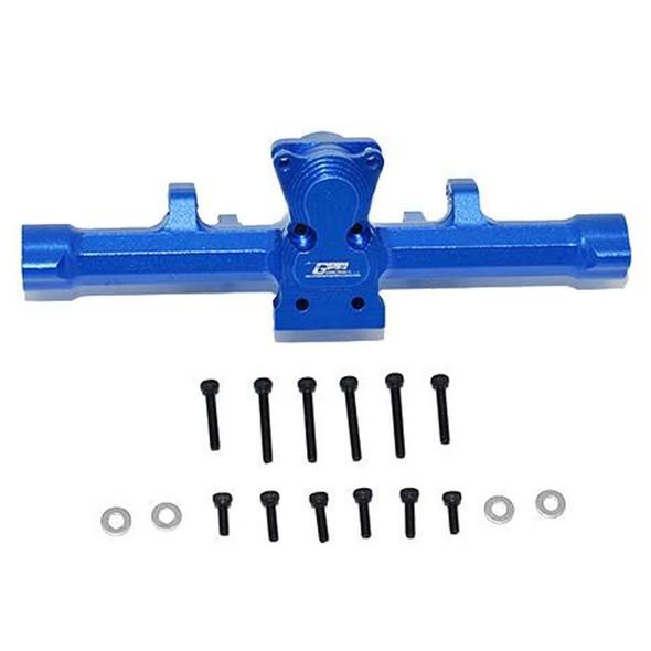 GPM Aluminum Rear Gear Box Blue : Axial 1/24 SCX24 Deadbolt / Jeep Wrangler