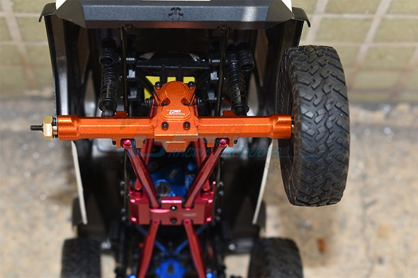 GPM Aluminum Rear Gear Box Orange : Axial 1/24 SCX24 Deadbolt / Jeep Wrangler