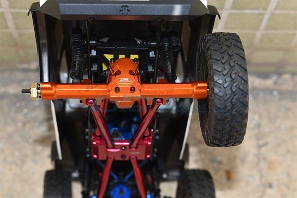 GPM Aluminum Rear Gear Box Silver : Axial 1/24 SCX24 Deadbolt / Jeep Wrangler