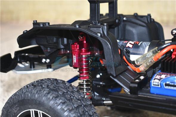 GPM Alum L-Shape Piggy Back Spring Dampers 90mm+Adj Damper Mount Red : TRX-6