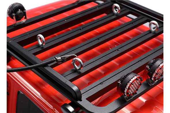 GPM RC Car Metal Roof Luggage Rack Black : 1:10 Crawlers With Handle