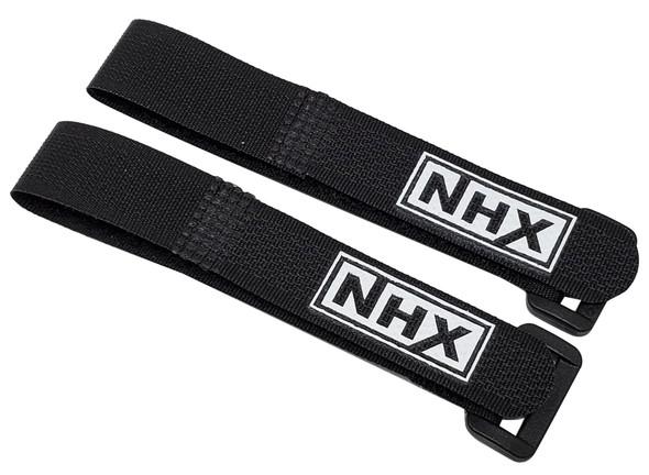 NHX 2pcs/set 16mm Battery Strap w/ Nylon Hoop 16x203mm - Black