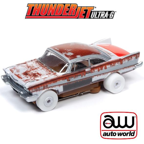 Auto World Thunderjet R26 1958 Plymouth Belvedere iWheels HO Slot Car