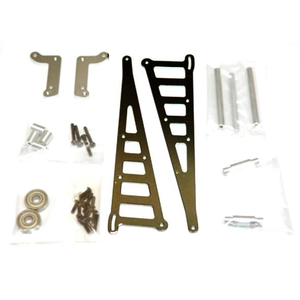 STRC STC71071GM Aluminum Wheelie Bar Kit Gun Metal : Associated DR10