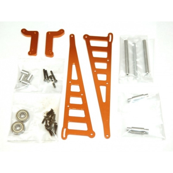 STRC STC71071O Aluminum Wheelie Bar Kit Orange : Associated DR10