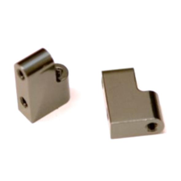 STRC STC91391SGM Aluminum Steering Servo Mount (2) Gun Metal : Associated DR10