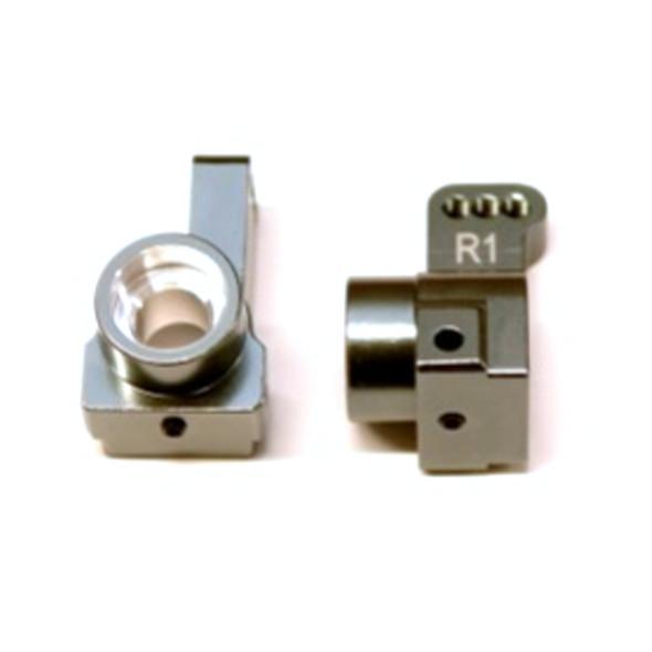 STRC Aluminum Rear Hub Carriers 1 deg. Toe-in (1 pair) Gun Metal : Associated DR10
