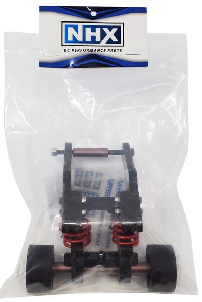NHX Wheelie Bar with Black Rubber Tires : E-REVO 2.0
