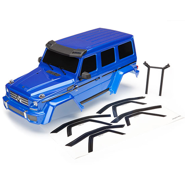 Traxxas 8811X Complete Mercedes-Benz G 500 Blue Body w/ Rear Body Post : TRX-4