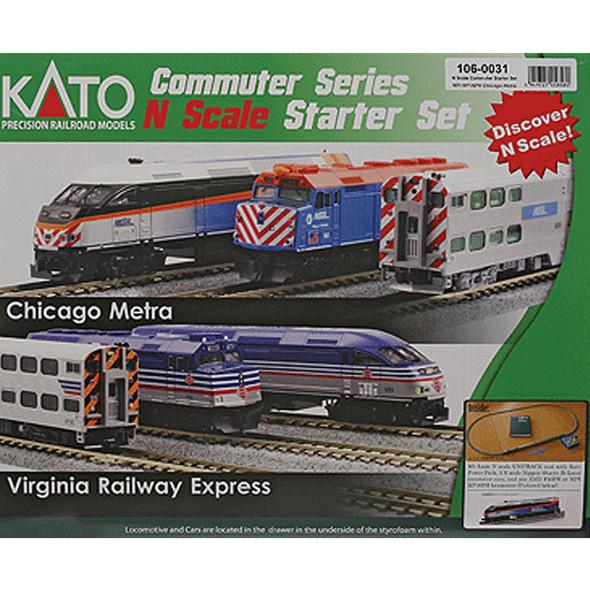 Kato 106-0031 MP36PH Commuter Train Starter Set Metra N Scale