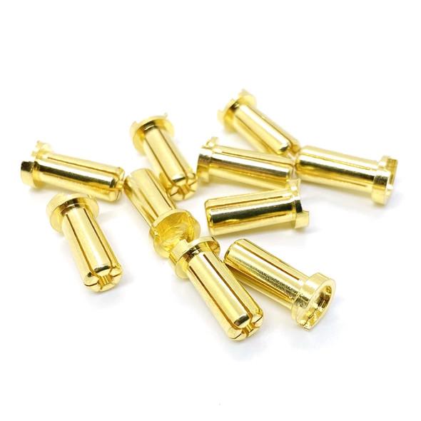 Maclan Racing MCL4217 Max Current 5mm Low Profile Gold Bullet Connectors (10pcs)