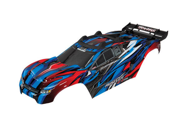 Traxxas 6717A Blue Body w/Mounts & Support for Clipless Mounting : Rustler 4x4 VXL