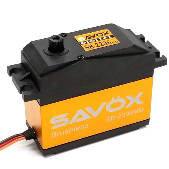 Savox SB-2236MG 1/5 High Voltage Brushless Digital Servo .13sec / 555oz / 7.4V