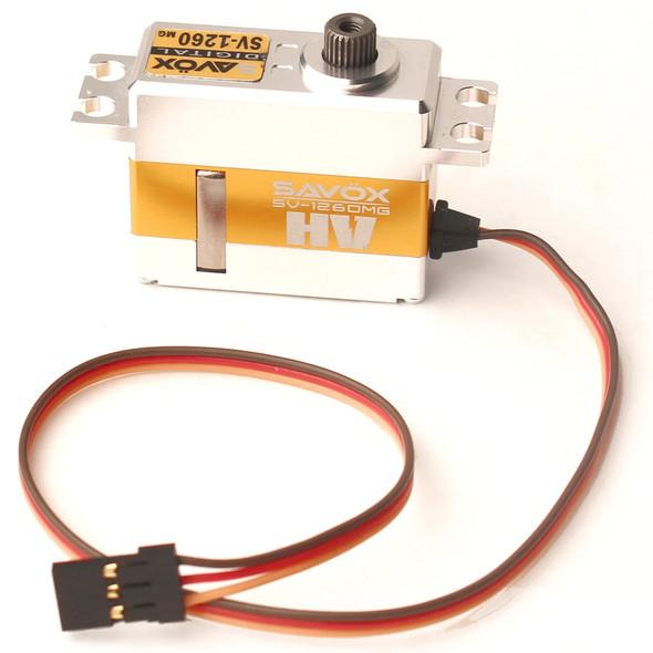 Savox SV-1260MG HIGH VOLTAGE 7.4V / .055 sec / 167 oz. Mini Digital Alum Servo