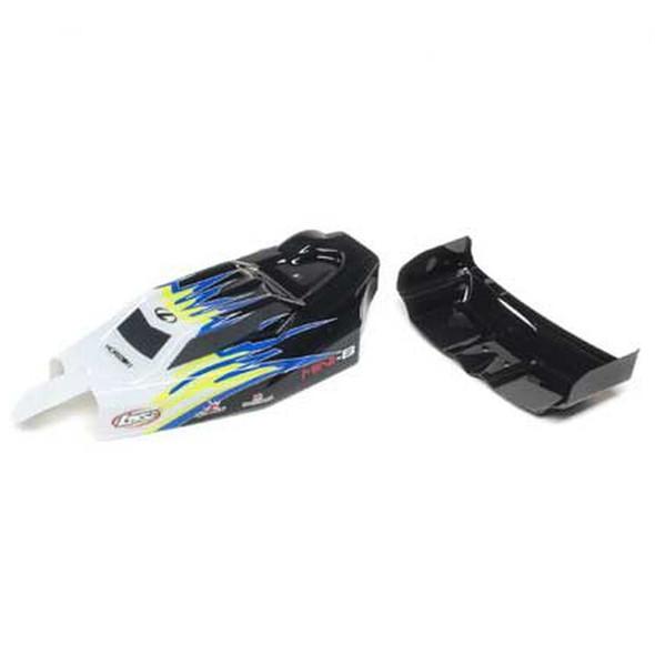Losi LOS210020 Body & Wing Black / White : Mini-B