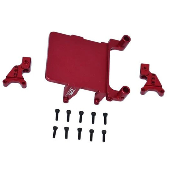 GPM Alum Adjustable Front & Rear Damper Mount Red : SCX24 Deadbolt / Wrangler