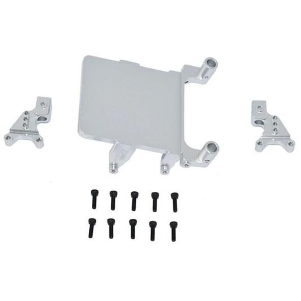 GPM Alum Adjustable Front & Rear Damper Mount Silver : SCX24 Deadbolt / Wrangler
