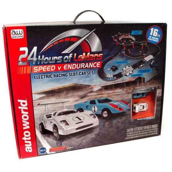 Auto World SRS333 16' 24 Hours of Le Mans Speed v Endurance Slot Car Race Set HO