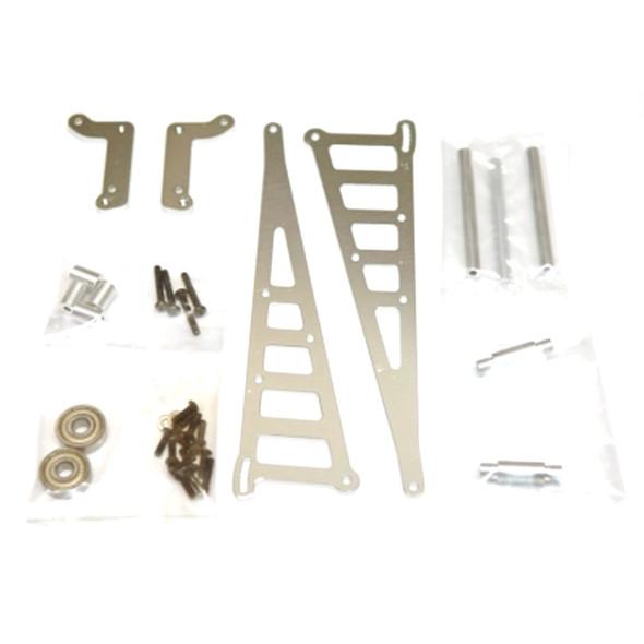 STRC STC71071S Aluminum Wheelie Bar Kit Silver : Associated DR10