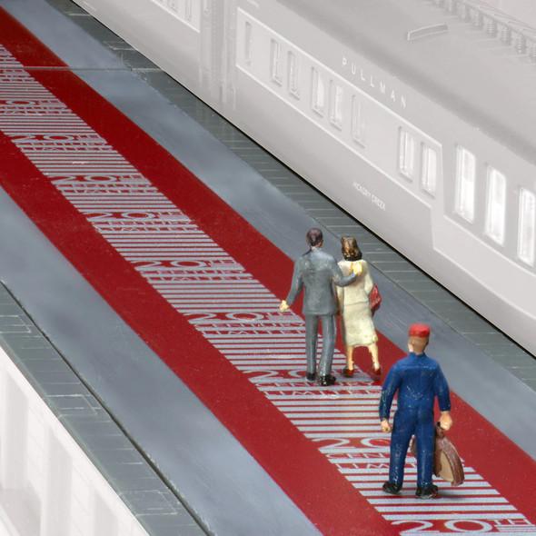 Kato 23106-KB 20th Century Limited Red Carpet Island Platform Kit N Scale