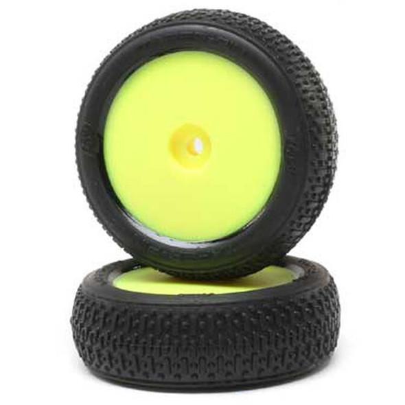 Losi LOS41015 Taper Pin FR Mounted Tires w/ Yellow Wheels (2) : Mini-B