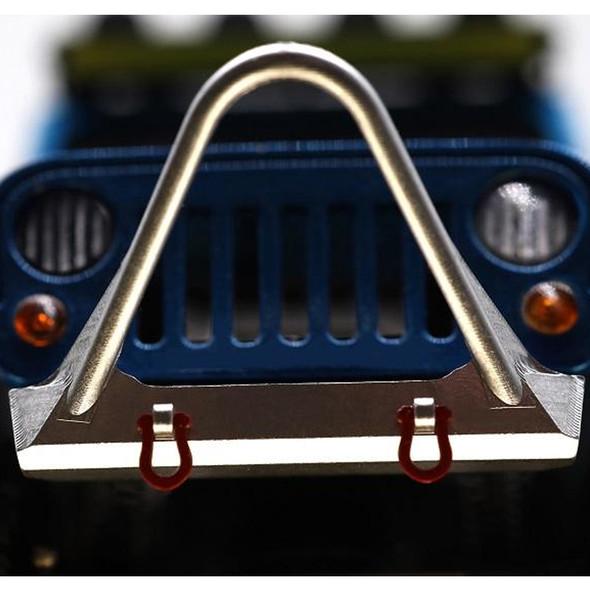Orlandoo Hunter Metal Stinger Front Bumper & Towing Eye Silver : Jeep Rubicon