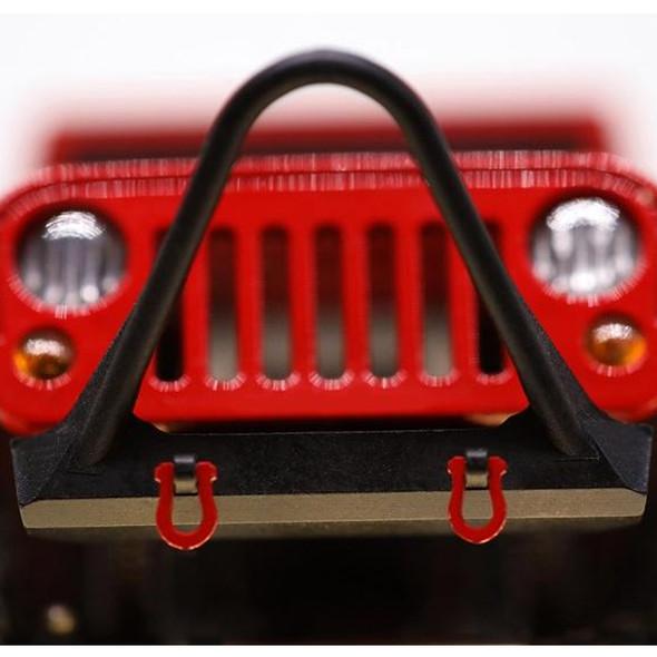 Orlandoo Hunter Metal Stinger Front Bumper & Towing Eye Black : Jeep Rubicon